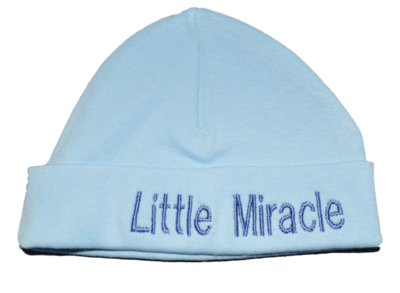 Babymutsje Little Miracle (blauw)