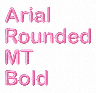 Tekst: Arial Rounded MT Bold